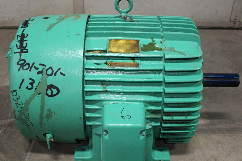 40 HP General Electric Tri-Clad Motor 1775 RPM 364U Frame 208/220/440 Volt TEFC  Reconditioned with a 1 year Warranty!