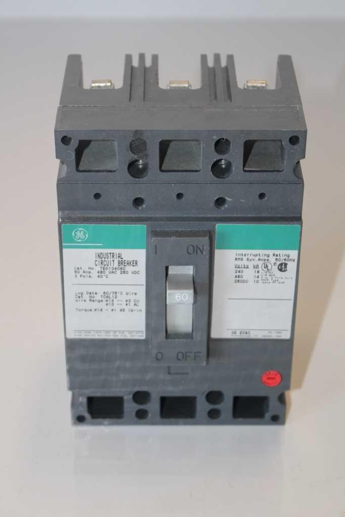 General Electric TED134060 Industrial Circuit Breaker 60 Amp 480 Volt
