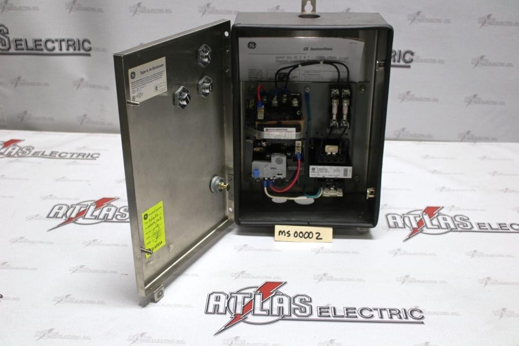 General Electric FVNR Motor Starter Catalog Number CR306B40400XDTAAG 4X Enclosure