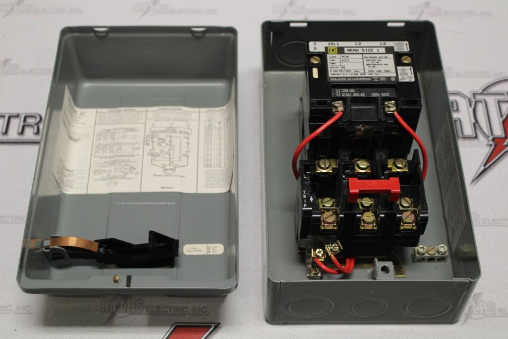 Square D Size 1 FVR Motor Starter Catalog Number 5836 N-1 Enclosure
