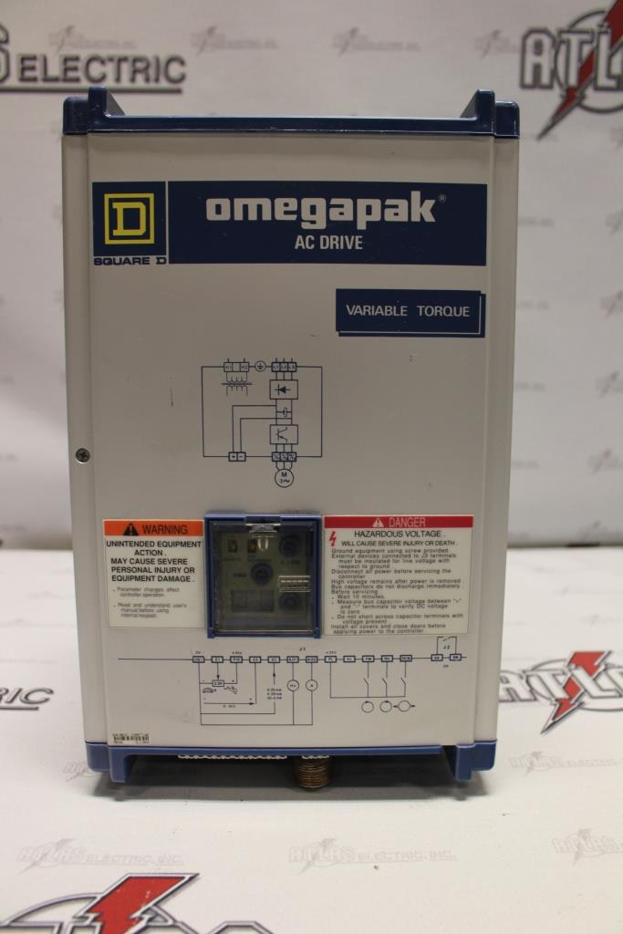Square D Variable Frequency Drive Catalog Number 8803-P00VO4G Open Chasis Enclosure