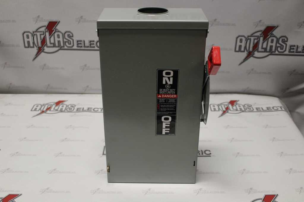 General Electric  100 Amp 3 Pole Non-Fusible Safety Switch TH3363R 600 Volt N-3R New