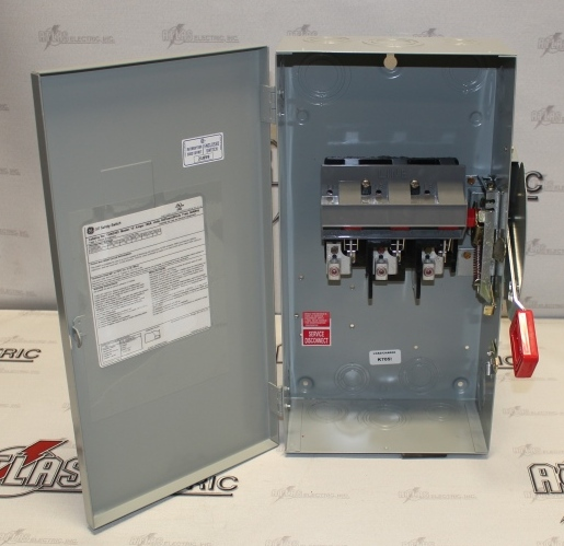 General Electric 100 Amp 3 Pole Non-Fusible Safety Switch Catalog Number THN3363 600 Volt N1