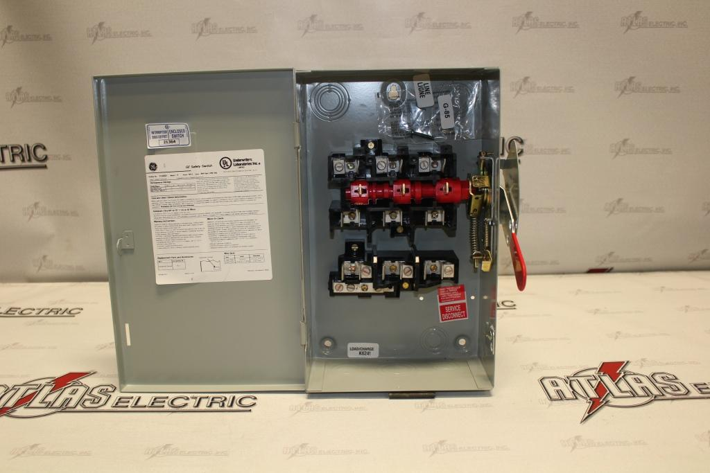 General Electric 60 Amp 3 Pole Fusible Safety Switch Catalog Number TG4322 240 Volt N1