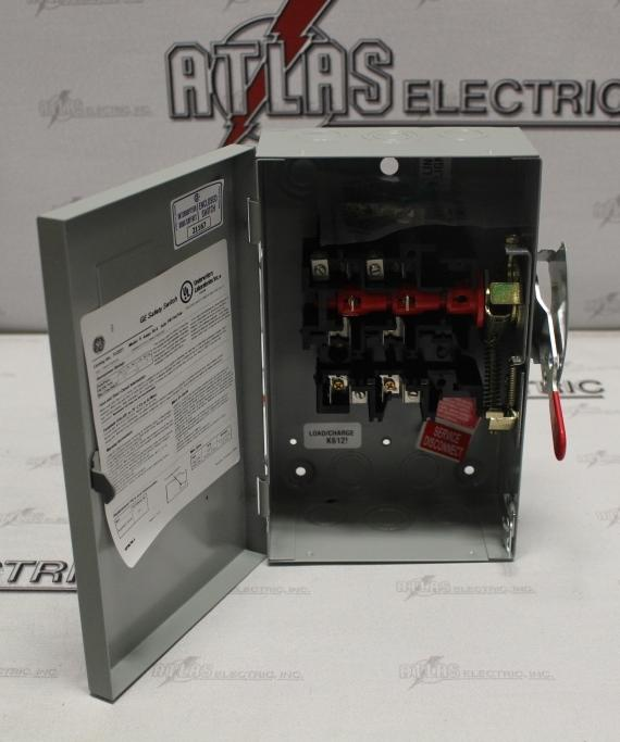 General Electric 30 Amp 3 Pole Fusible Safety Switch Catalog Number TG3221 240 Volt N1