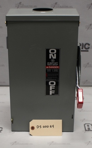 General Electric 60 Amp 3 Pole Non-Fusible Safety Switch Catalog Number THN3362R 600 Volt N3R
