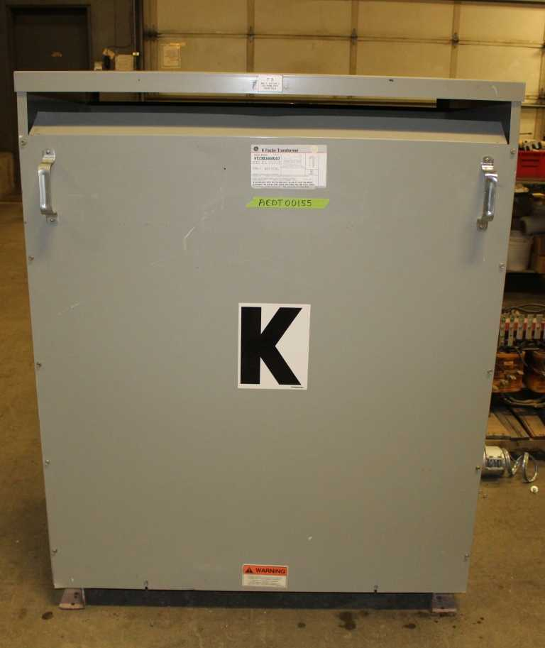 300.00 KVA General Electric Dry Type Transformer 480-208Y/120 Volt 3 Phase