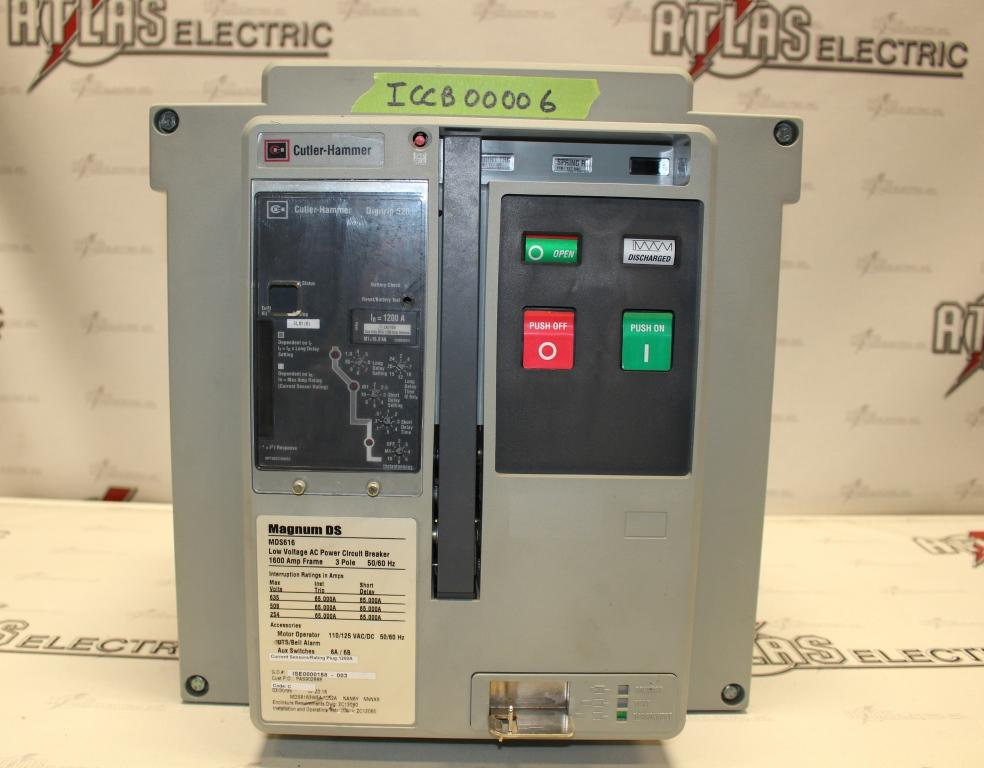 Cutler Hammer Insulated Case Circuit Breaker MDS6163WEA1252A Electric Operation 635 Volt