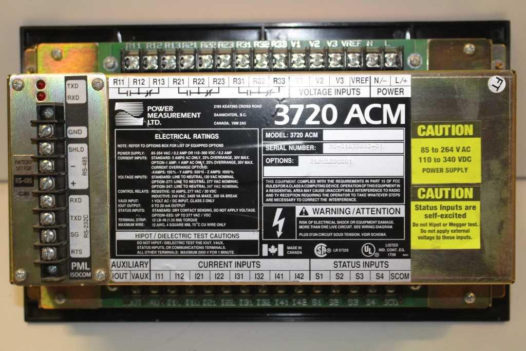 Power Measurement Power Meter 3720 ACM