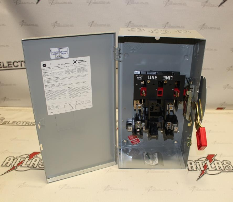General Electric 60 Amp 2 Pole Fusible Safety Switch Catalog Number TH3222 240 Volt N1
