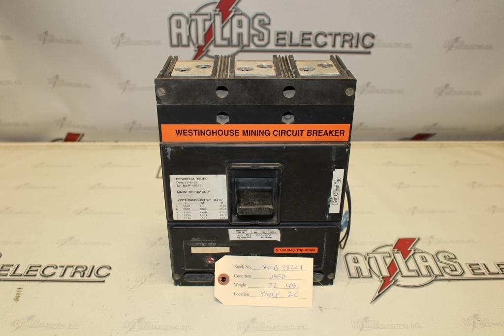 Westinghouse HLA3600M Molded Case Circuit Breaker 600 Amp 600 Volt
