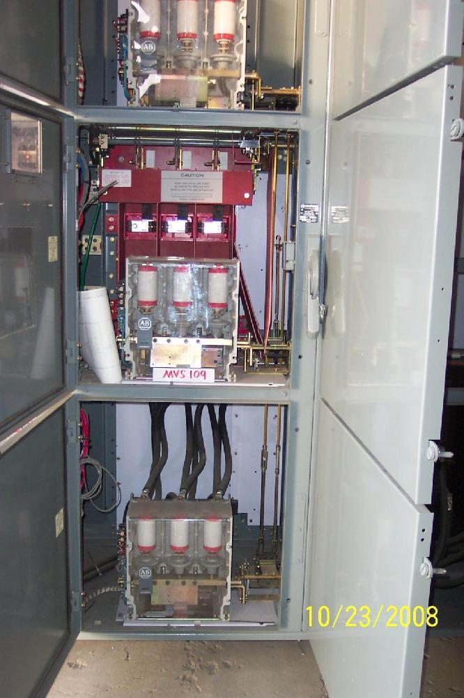 Allen Bradley Centerline Medium Voltage Motor Controller 400 Amp 4160 Volt