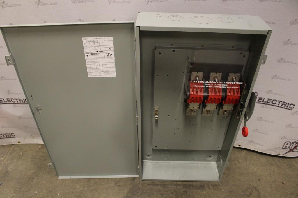 Eaton/Cutler Hammer 400 Amp 3 Pole Non-Fusible Safety Switch Catalog Number DH365UGK 600 Volt N1