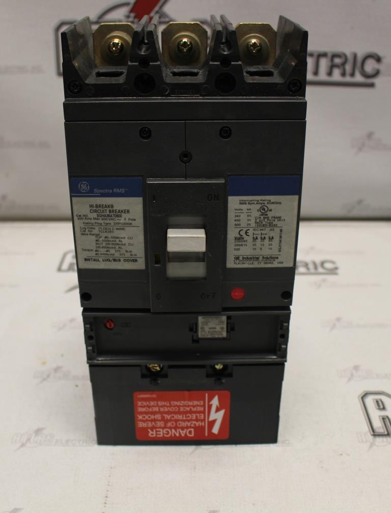 General Electric SGHA36AT0600 Molded Case Circuit Breaker 600 Amp 600 Volt