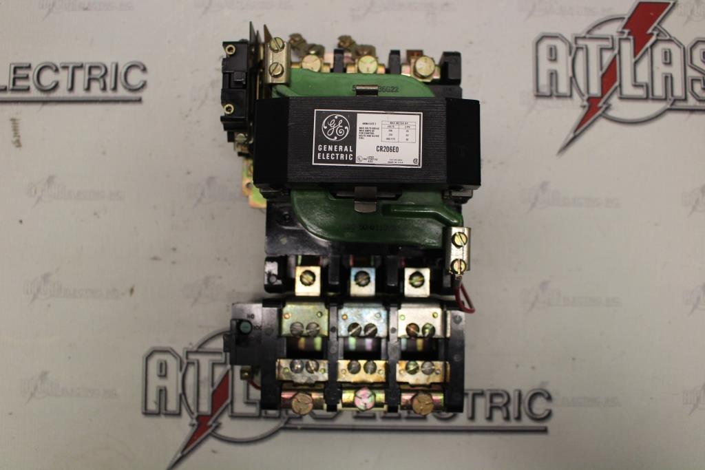 General Electric Size 3 FVNR Motor Starter Catalog Number CR206EO