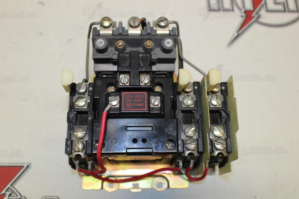 Allen Bradley Size 1 FVNR Motor Starter Catalog Number 709-BOD103