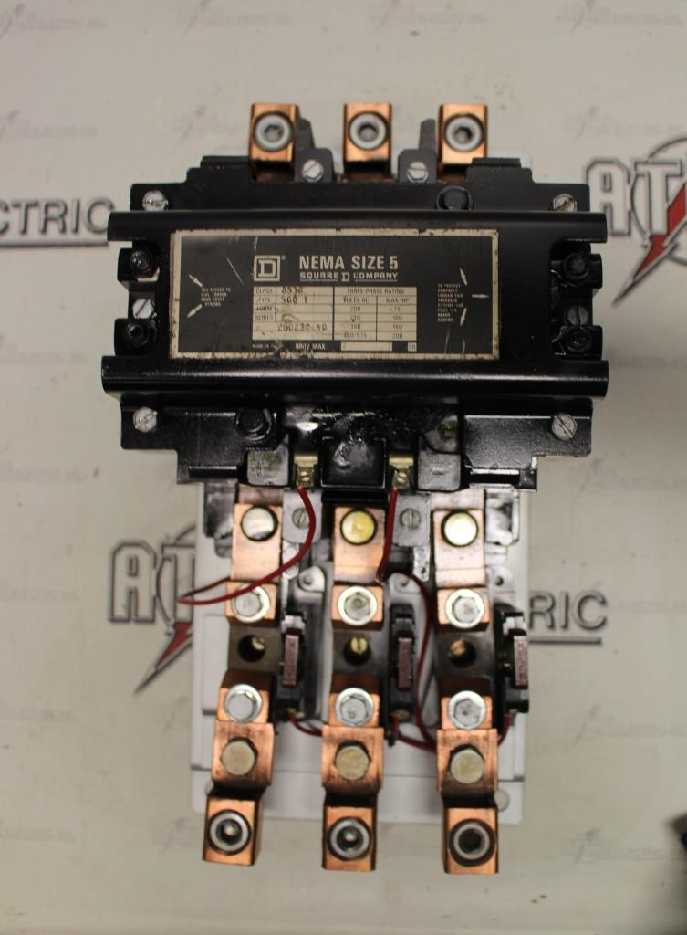 Square D Size 5 FVNR Motor Starter Catalog Number 8536