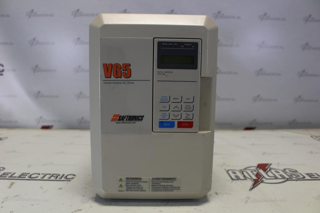 Saftronics Variable Frequency Drive Catalog Number CIMR-G5U45P5 N-1 Enclosure