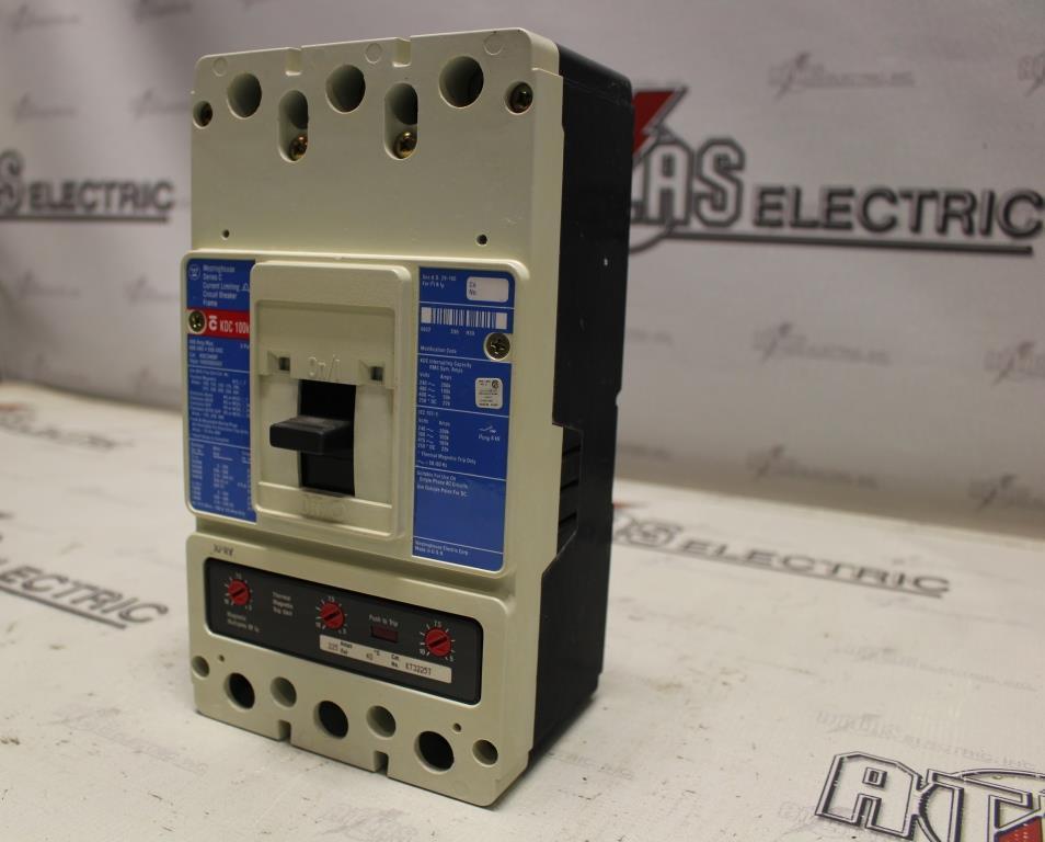 Westinghouse KDC3400F Molded Case Circuit Breaker 225 Amp 600VAC/250VDC Volt