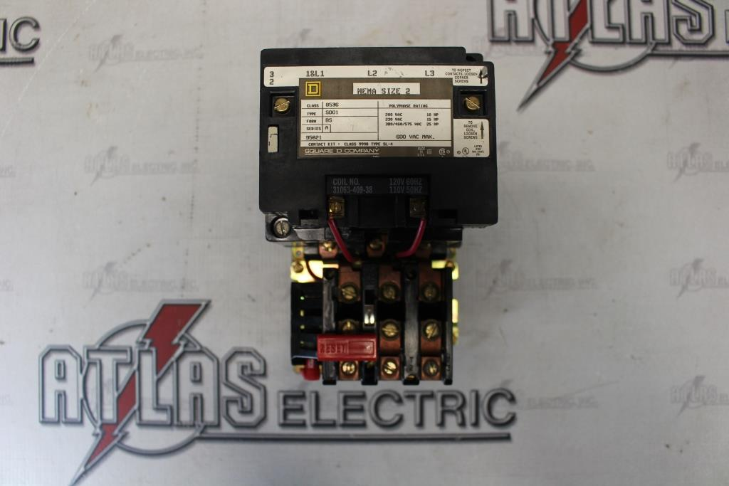 Square D Size 2 FVNR Motor Starter Catalog Number 8536SDO