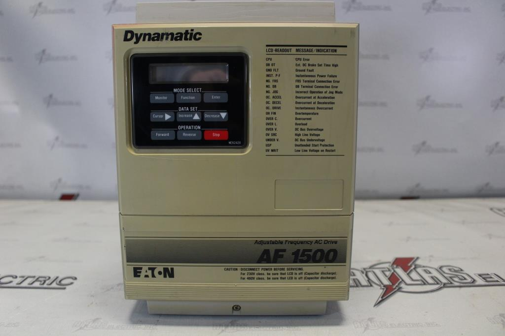 Eaton Variable Frequency Drive Catalog Number AF-150502-0480 N-1 Enclosure