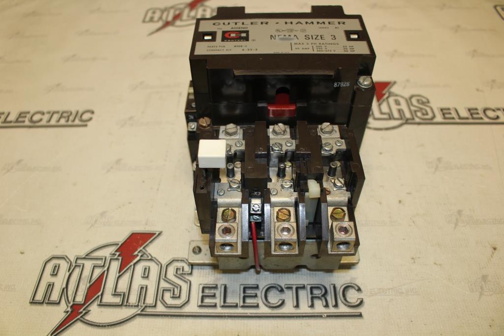 CUTLER HAMMER Size 3 FVNR Motor Starter Catalog Number A10EG0