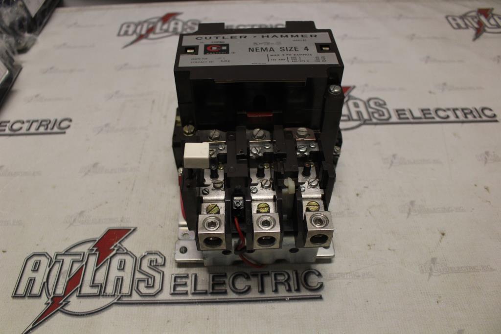 CUTLER HAMMER Size 4 FVNR Motor Starter Catalog Number A10FNO