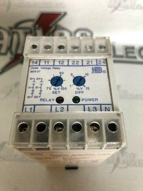 BASLER BE3-27-3D1N2 UNDER VOLTAGE RELAY 480V