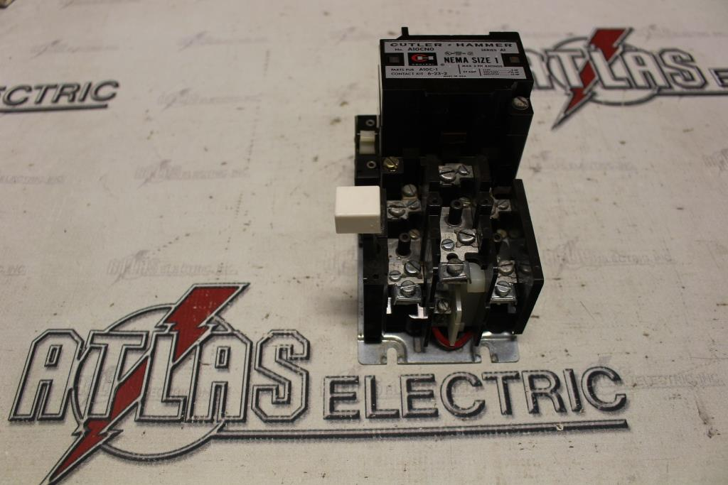 CUTLER HAMMER Size 1 FVNR Motor Starter Catalog Number A10CNO