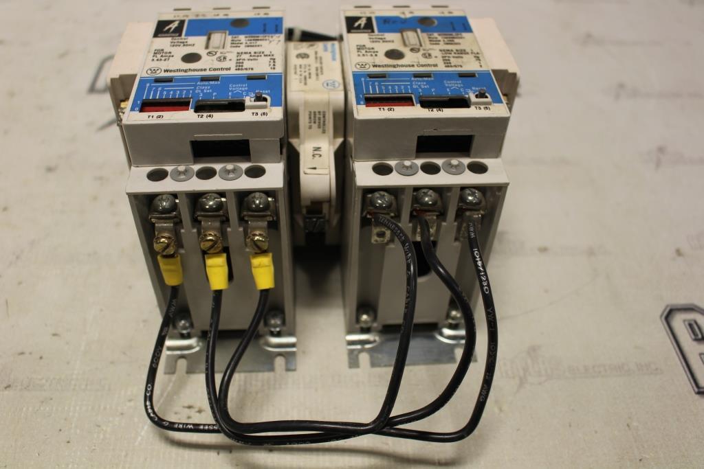 Westinghouse Advantage Size 1 MULTI SPEED Motor Starter Catalog Number W960M1CFC 120 Volt Coil