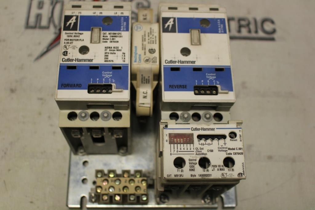 CUTLER HAMMER Advantage Size 1 FVR Motor Starter Catalog Number W210M1CFC 120 Volt Coil