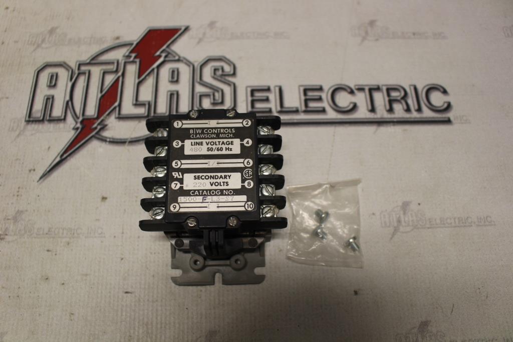 B/W CONTROLS 1500-F-L3-S7 LIQUID LEVEL CONTROL 480V LINE VOLTAGE 220V SECONDARY VOLTS
