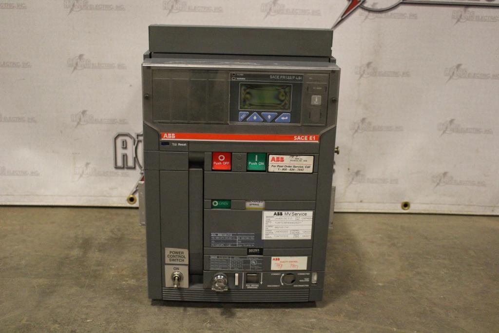 ABB Insulated Case Circuit Breaker SACE E1B-A 08 Electric Operation 480 Volt