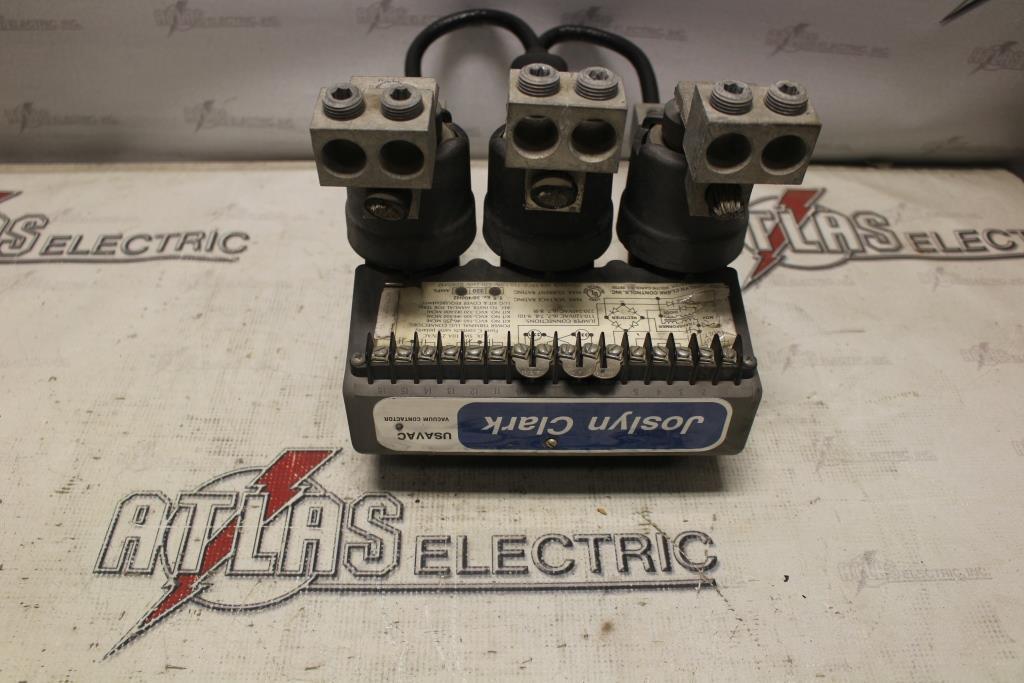 Joslyn Clark VC77U03515-76C 320 Amp 1500 Volt Vacuum Contactor 120-240 Volt Coil